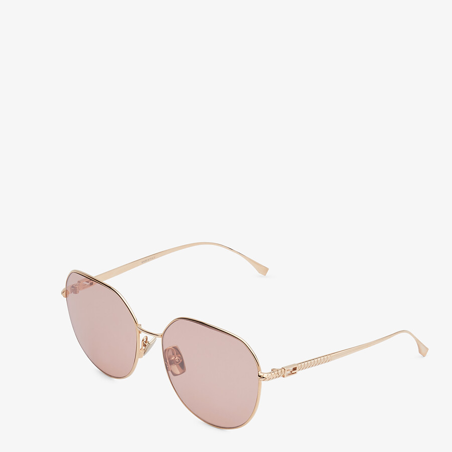 FENDI BAGUETTE - Rose-gold-colored sunglasses - view 2 detail
