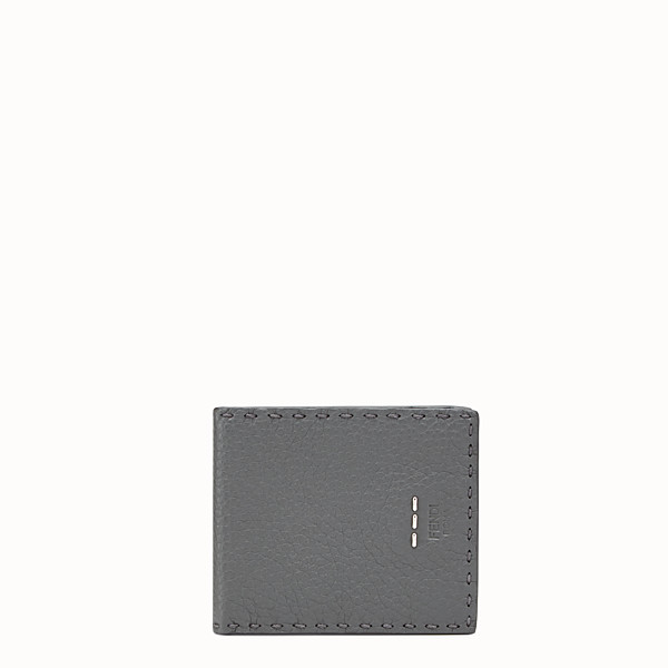 FENDI WALLET - Grey Roman leather horizontal wallet - view 1 small thumbnail