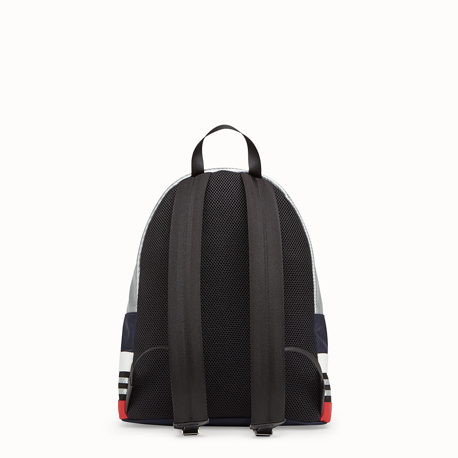 FENDI BACKPACK - Multicolored nylon and leather backpack - view 3 detail