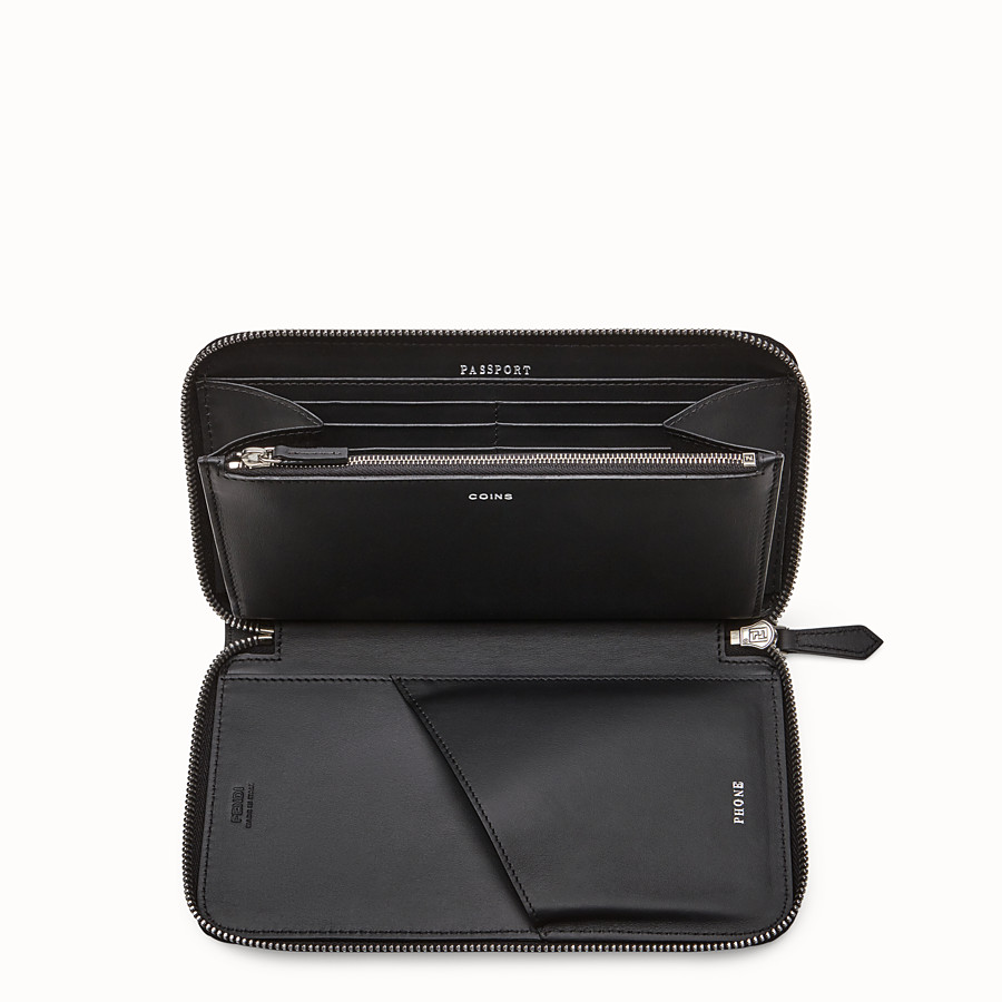 FENDI CONTINENTAL - Black leather wallet - view 3 detail