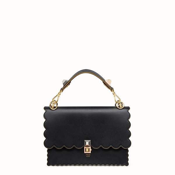 FENDI KAN I - Black and gold leather bag - view 1 small thumbnail