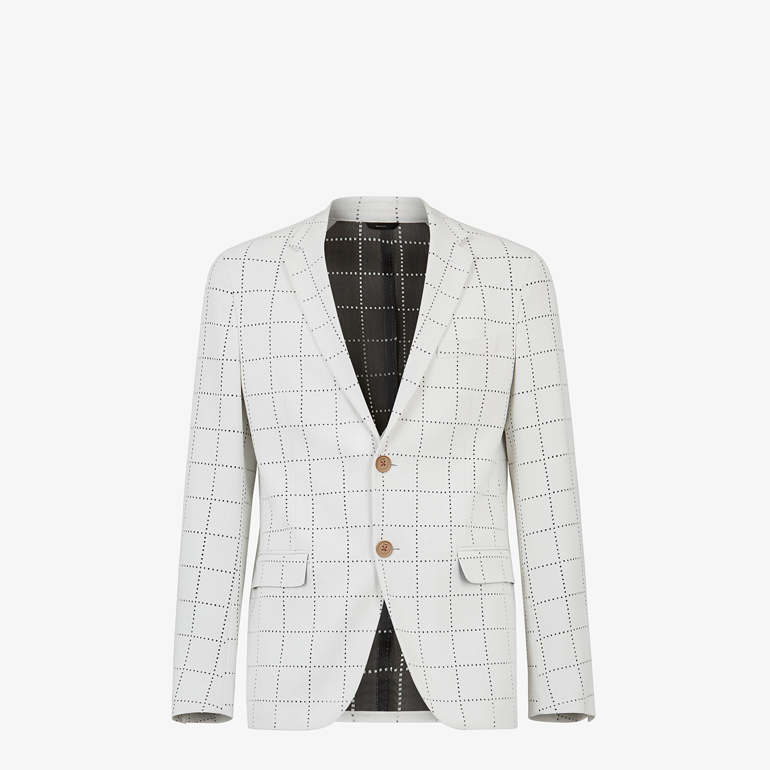 FENDI JACKET - White wool blazer - view 1 detail