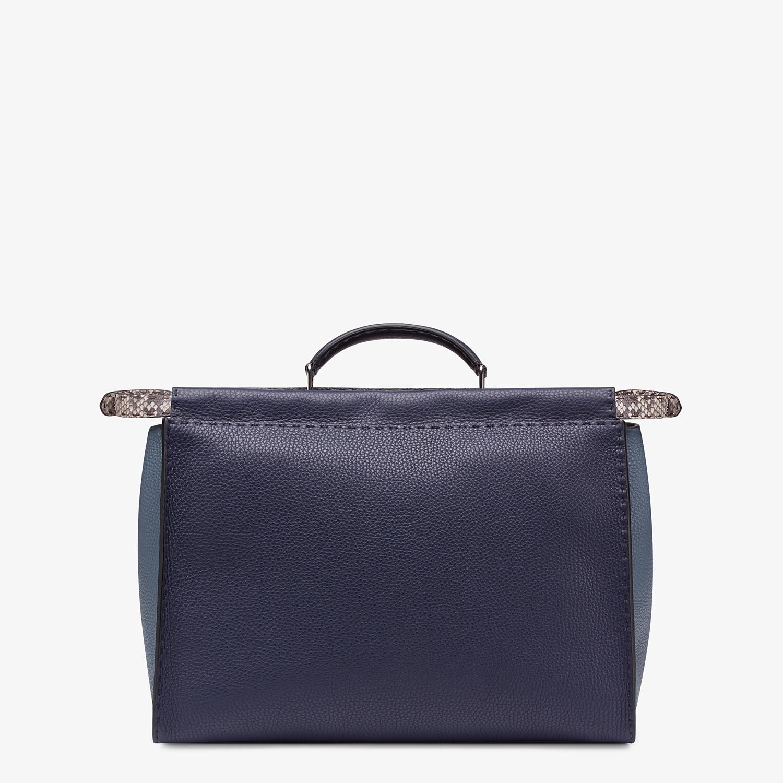 FENDI PEEKABOO MEDIUM - Blue Romano leather bag - view 3 detail