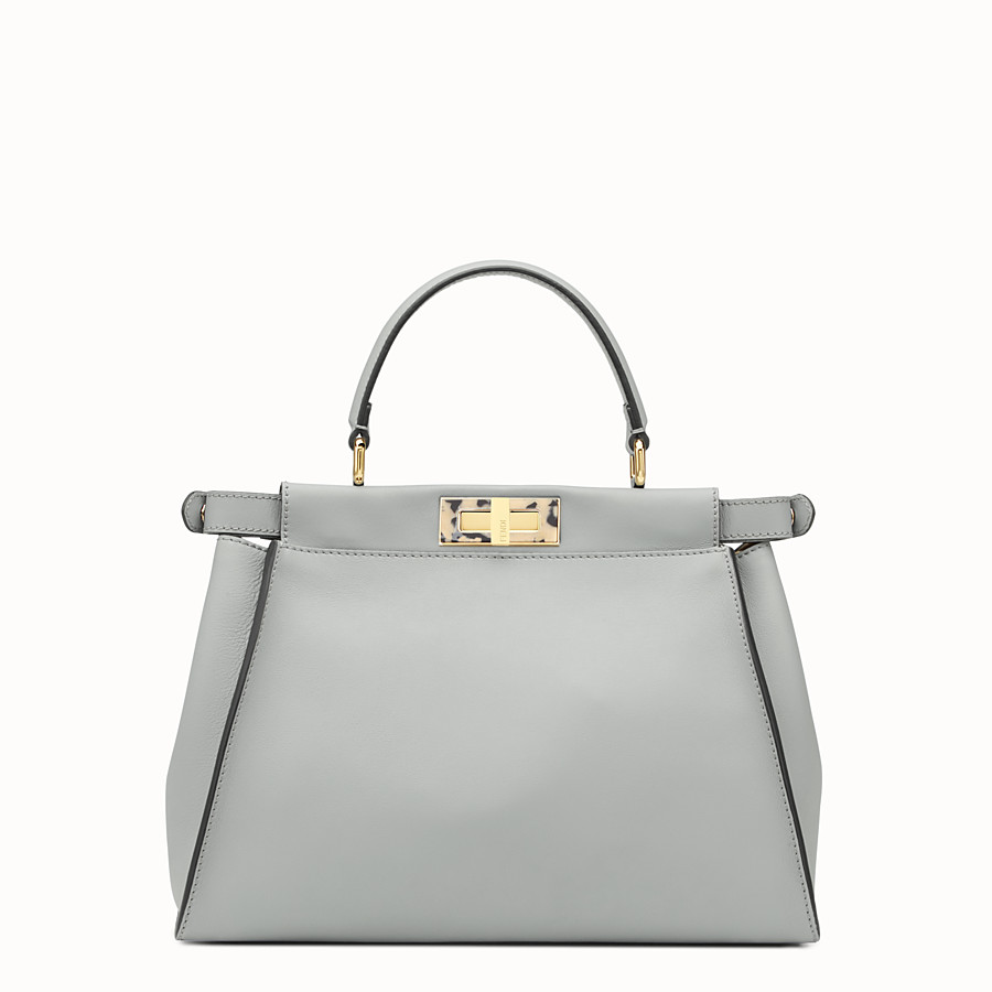 FENDI PEEKABOO REGULAR - Grey leather bag - view 3 detail
