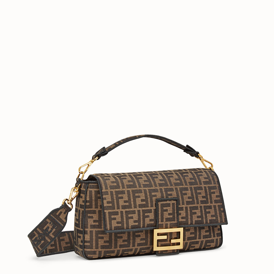 FENDI BAGUETTE LARGE - Brown fabric bag - view 2 detail