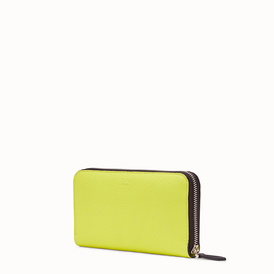 FENDI ZIP-AROUND - Yellow Romano leather wallet - view 2 detail
