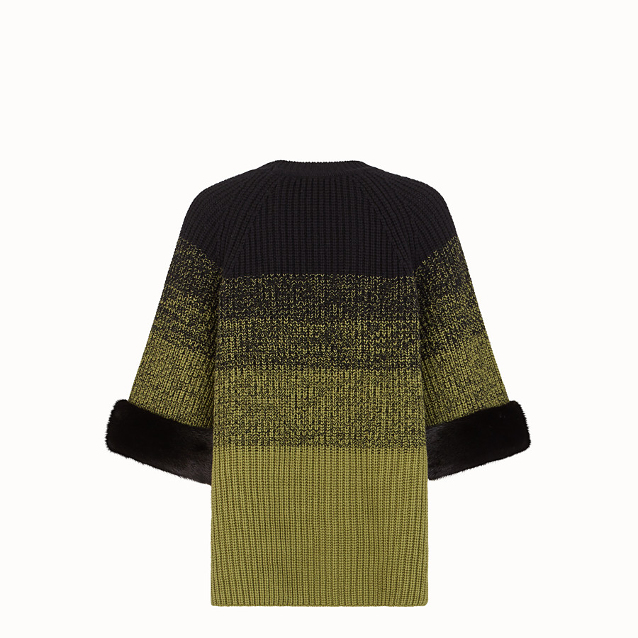 FENDI JUMPER - Green wool jumper - view 2 detail