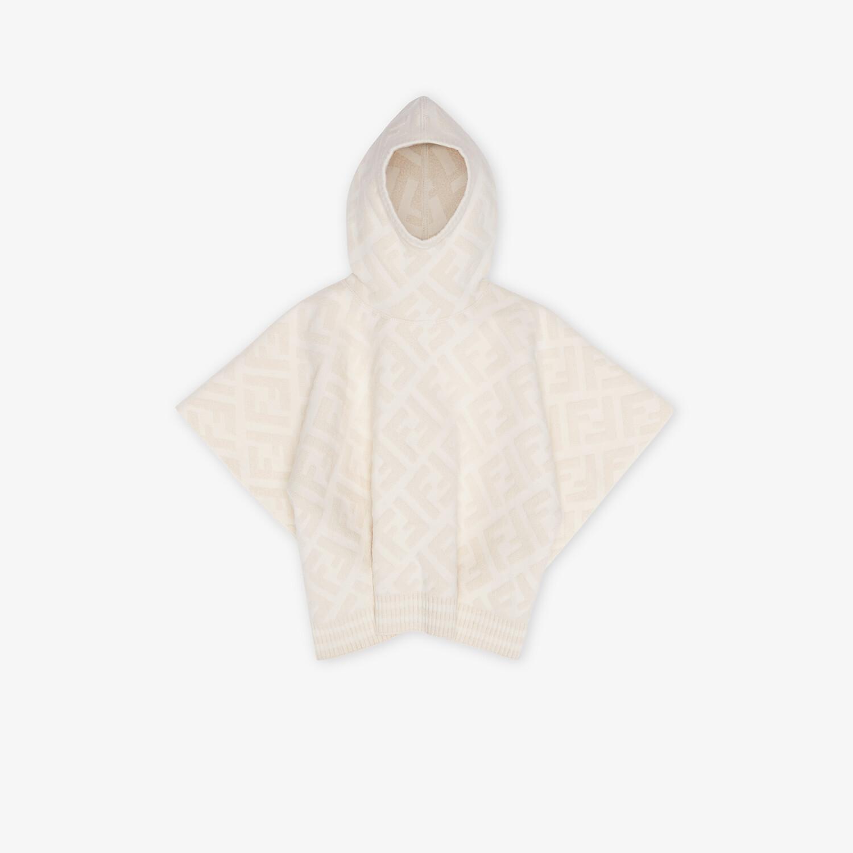 FENDI JUNIOR CAPE - White wool blend junior cape - view 1 detail