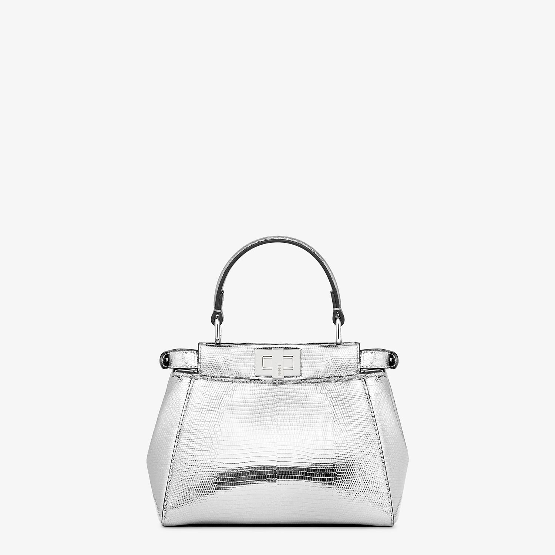 FENDI PEEKABOO ICONIC XS - Mini-bag in silver lizard - view 3 detail