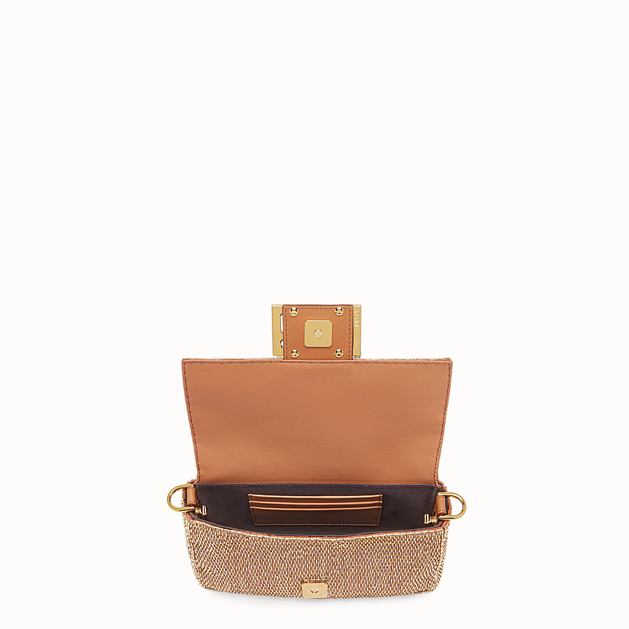 FENDI BAGUETTE - Brown leather bag - view 5 detail