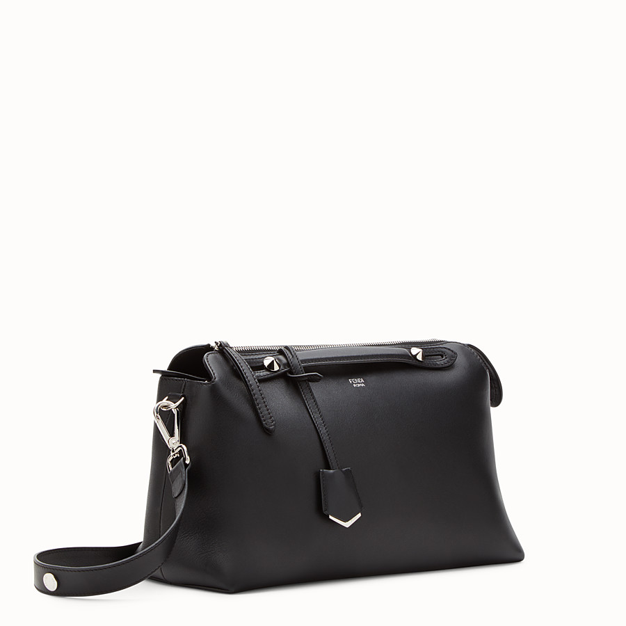 FENDI LARGE BY THE WAY - in black leather - view 2 detail