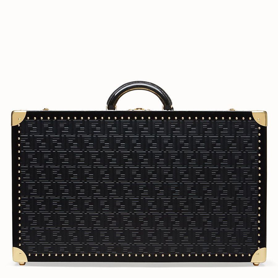 FENDI LARGE TRAVEL BAG - Black leather suitcase - view 3 detail