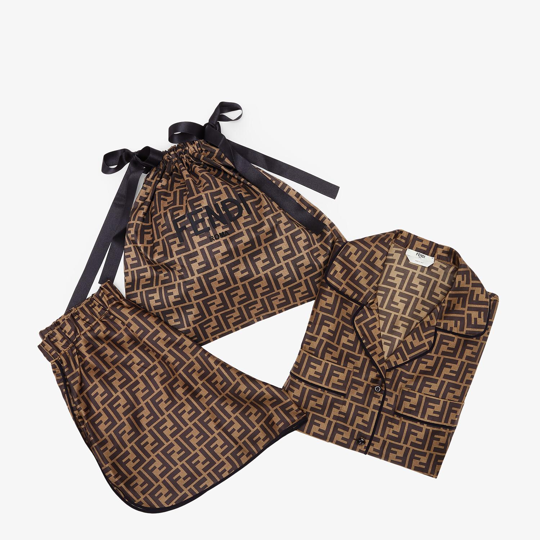 FENDI PAJAMAS - Brown silk pajamas - view 1 detail