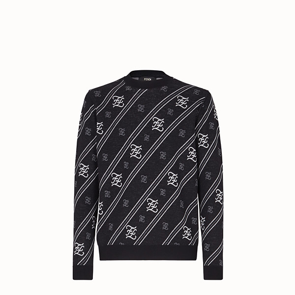 FENDI SWEATER - Black wool sweater - view 1 small thumbnail