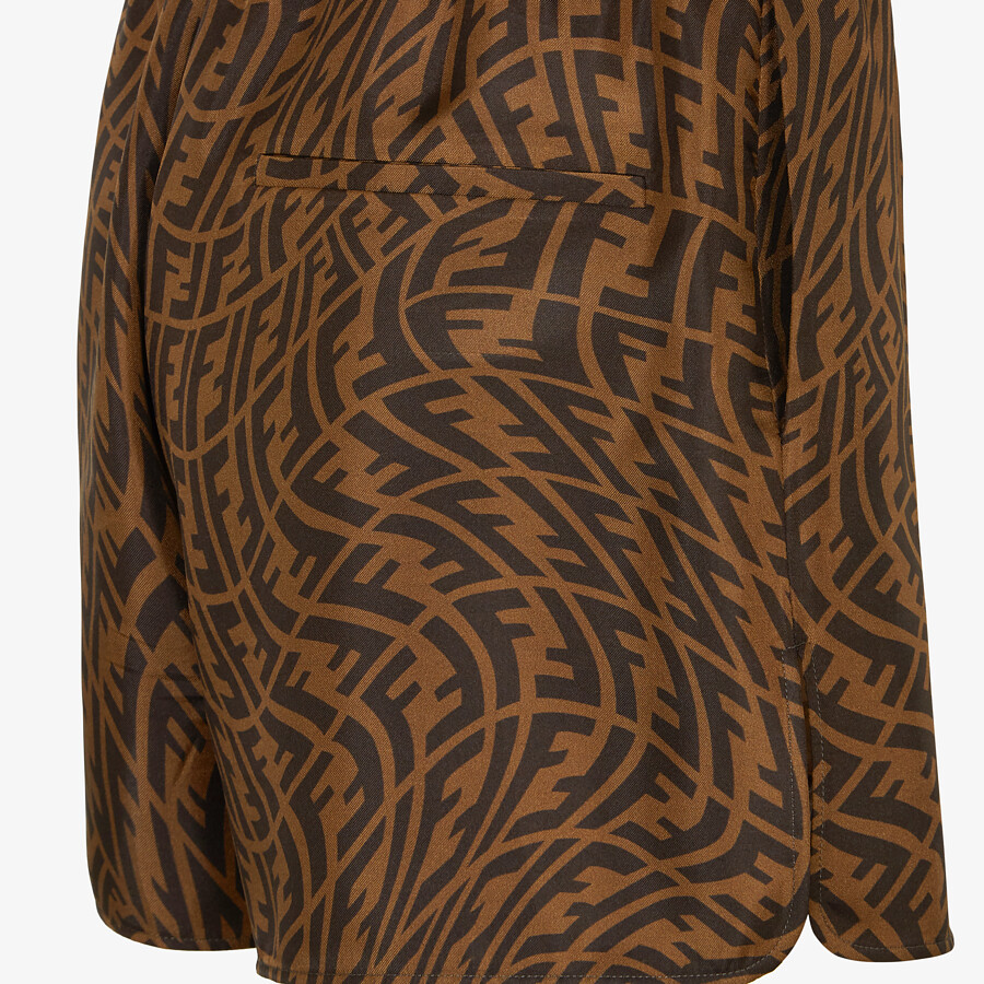 FENDI BERMUDAS - Brown silk pants - view 3 detail