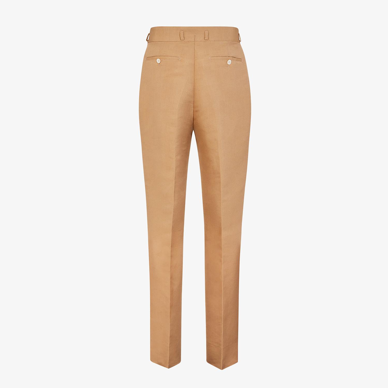 FENDI PANTS - Brown silk pants - view 2 detail