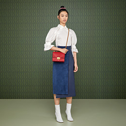 FENDI KAN U SMALL - Red leather mini-bag - view 2 thumbnail
