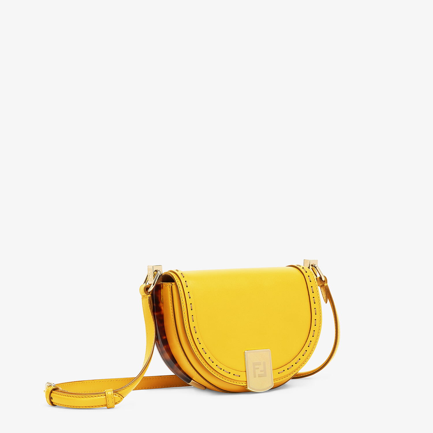 FENDI MOONLIGHT - Yellow leather bag - view 2 detail