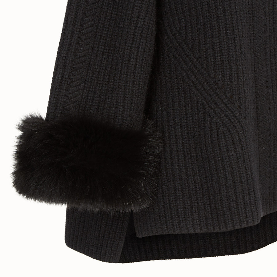 FENDI PULLOVER - Black cashmere jumper - view 3 detail
