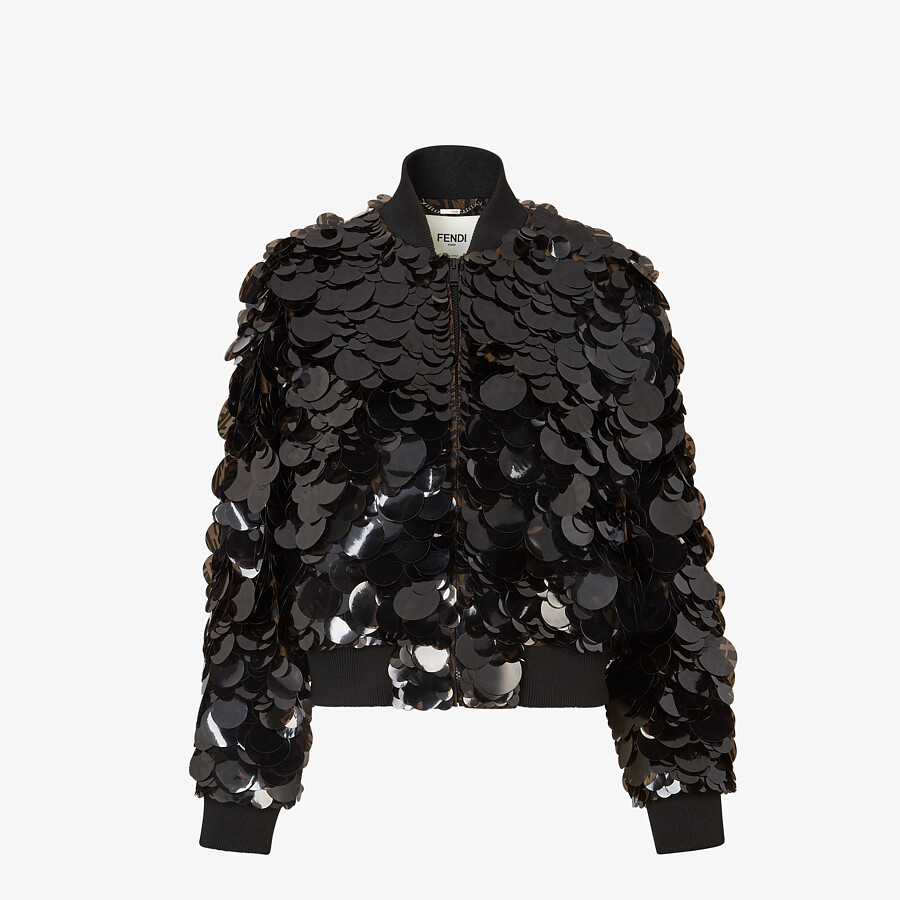 FENDI JACKET - Bomber jacket with FF sequins. - view 1 detail