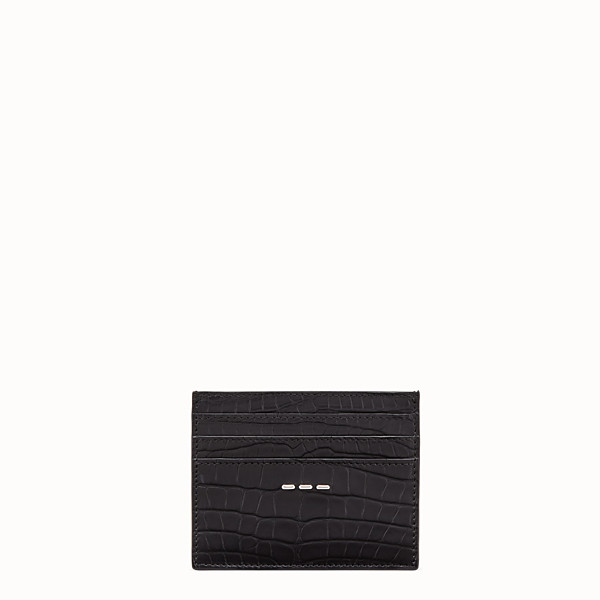 FENDI CARD HOLDER - Black alligator leather card holder - view 1 small thumbnail