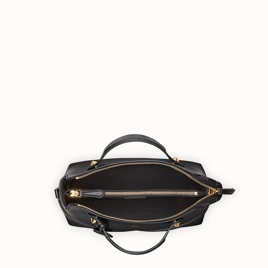 FENDI BY THE WAY REGULAR - Black leather Boston bag - view 4 detail