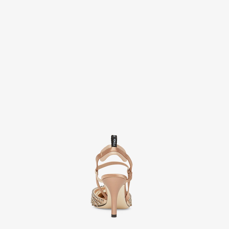 FENDI COLIBRI LITE SLINGBACKS - Pink micromesh slingbacks - view 3 detail