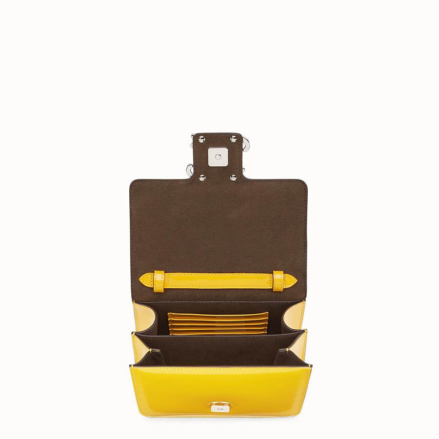 FENDI KARLIGRAPHY - Yellow patent leather bag - view 4 detail