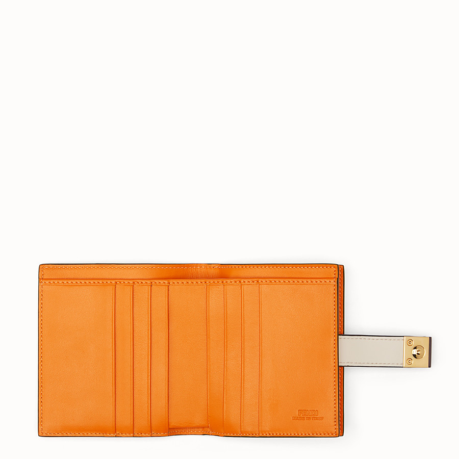 FENDI BIFOLD - White compact leather wallet - view 5 detail