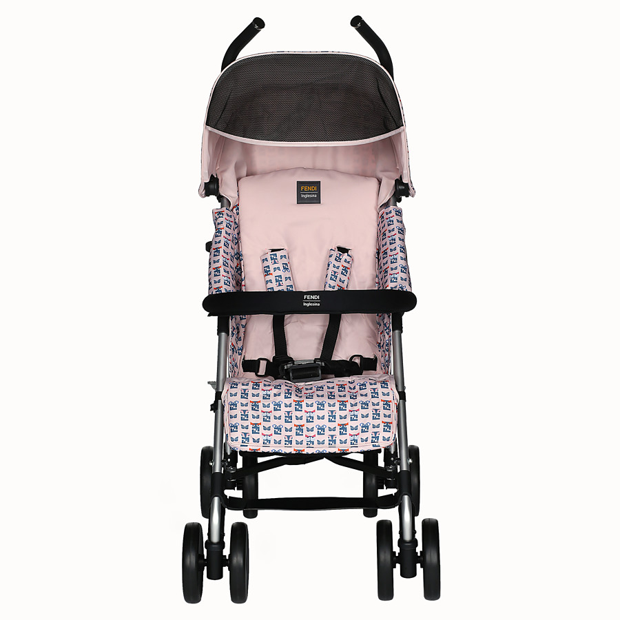 FENDI STROLLER - Pink stroller in fire-resistant material with monster pattern - view 1 detail