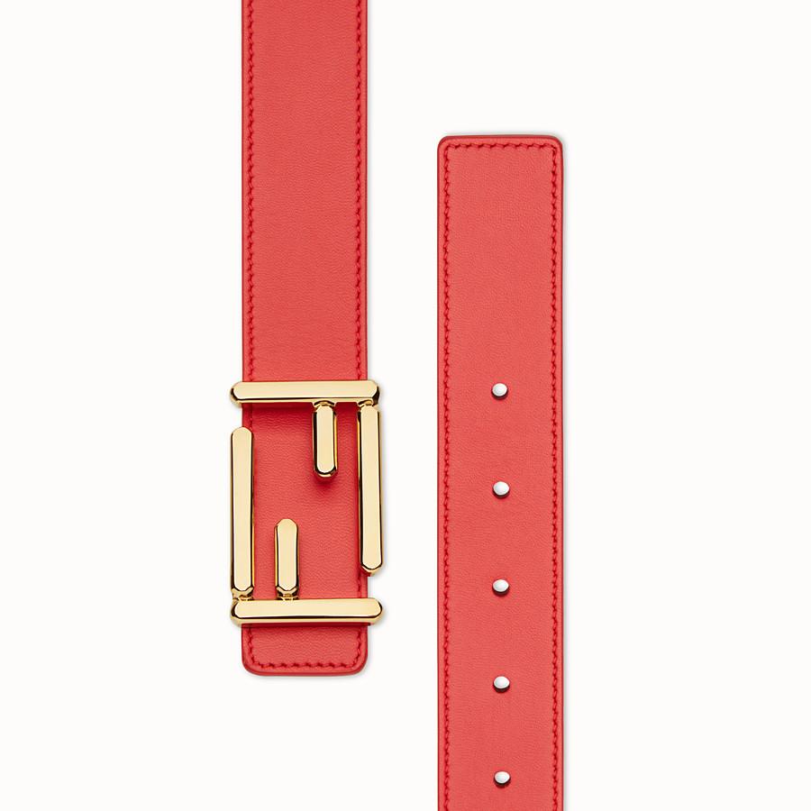 FENDI CINTURÓN BAGUETTE - Cinturón de piel roja - view 2 detail