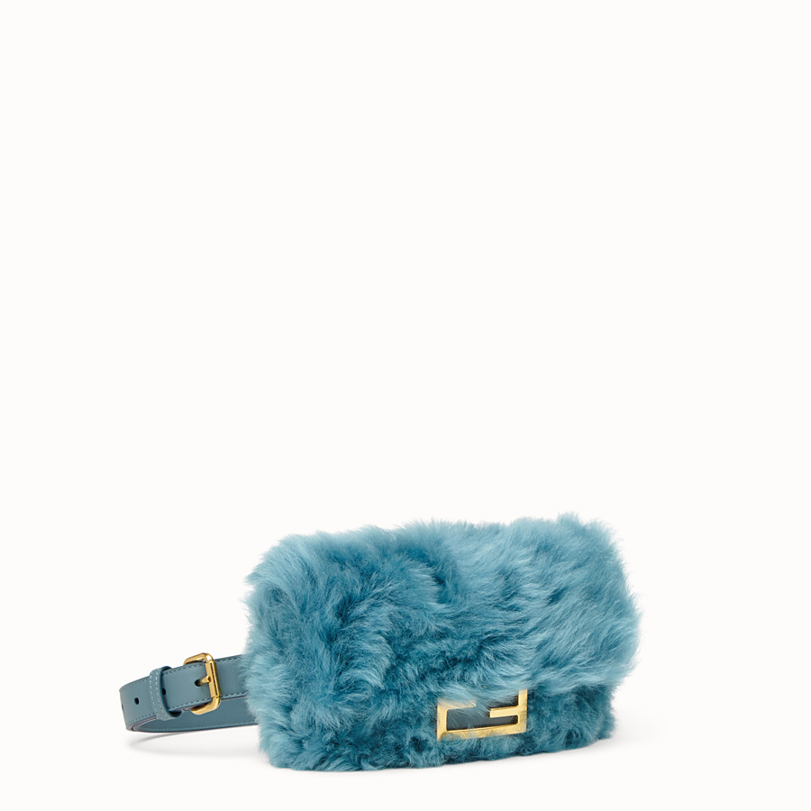 FENDI BELT BAG - Green sheepskin mini-bag - view 2 detail