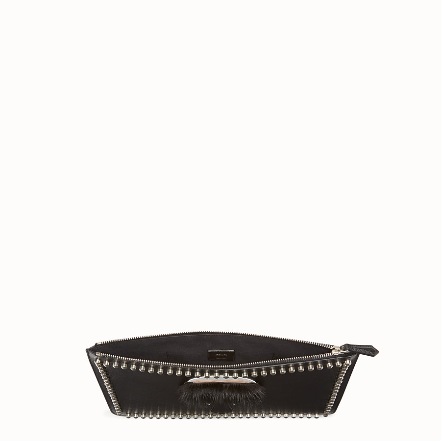 FENDI KARLITO POUCH - in elite leather with inlay - view 3 detail