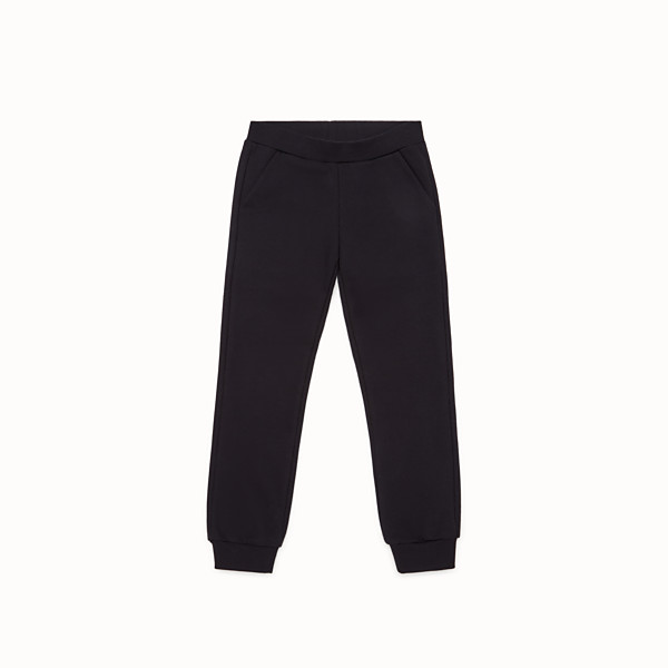 FENDI PANTS - Black cotton trousers - view 1 small thumbnail