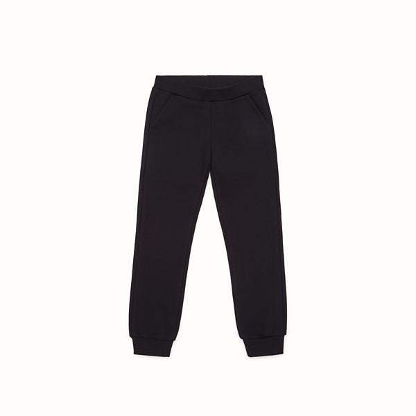 FENDI PANTS - Black cotton trousers - view 1 small thumbnail