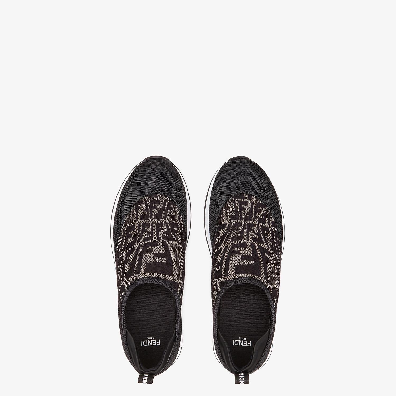 FENDI SIGNATURE - Black fabric sneakers - view 4 detail