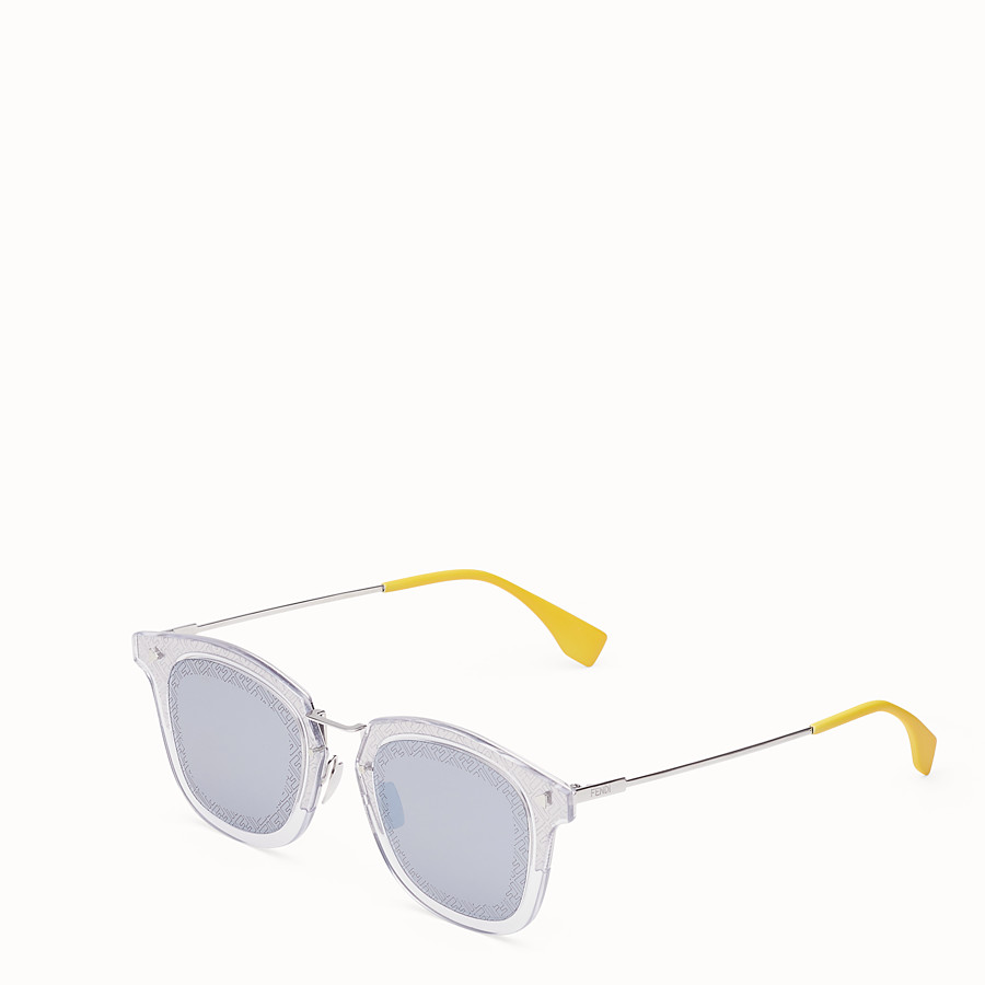 FENDI FF - Transparent and palladium sunglasses - view 2 detail