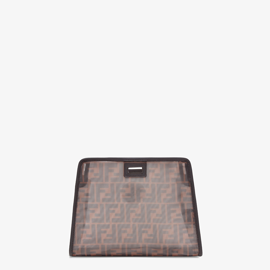 FENDI SMALL PEEKABOO DEFENDER - Brown mesh Peekaboo cover - view 3 detail