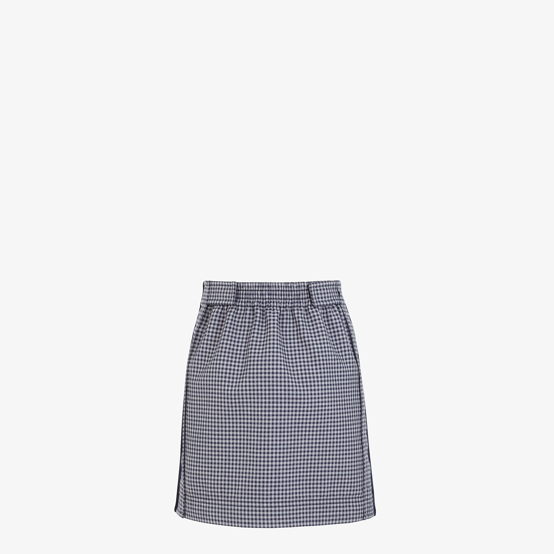 FENDI SKIRT - Wool check print skirt - view 2 detail