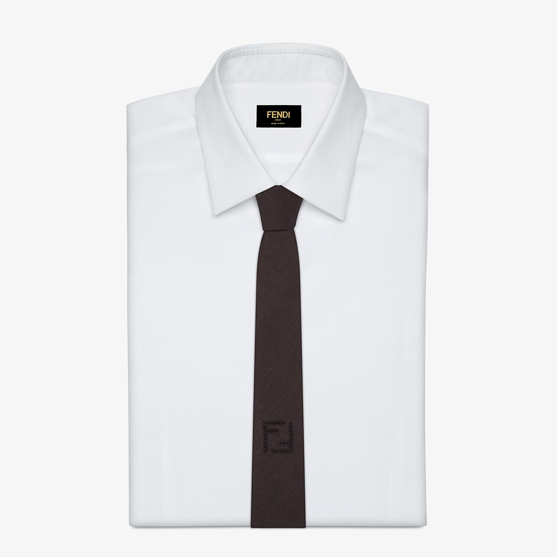 FENDI TIE - Black linen tie - view 2 detail