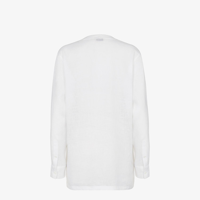 FENDI シャツ - ホワイトリネン シャツ - view 2 detail