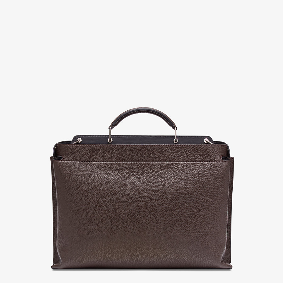FENDI PEEKABOO ICONIC ESSENTIAL - Brown calfskin bag - view 3 detail