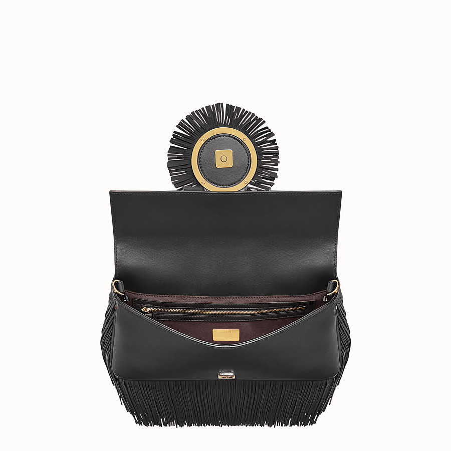 FENDI BAGUETTE - Black nappa bag - view 4 detail