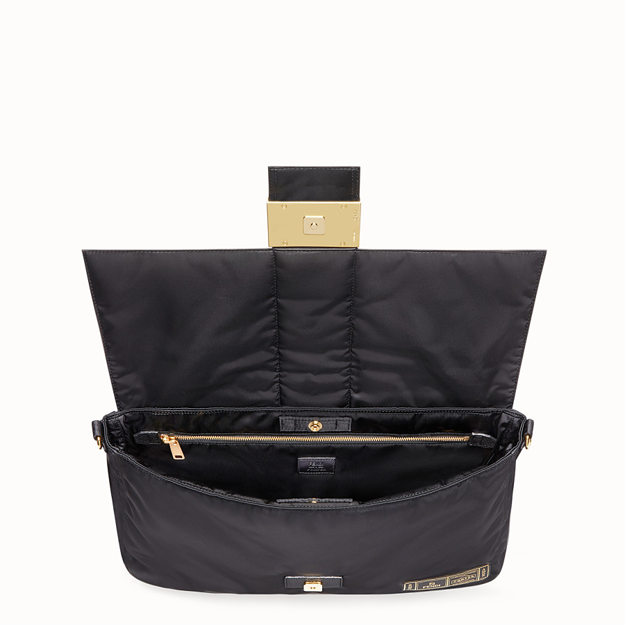 FENDI BAGUETTE FENDI AND PORTER - Black nylon bag - view 5 detail