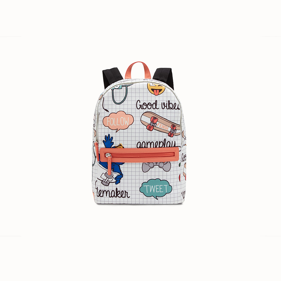 FENDI BACKPACK BABY - Zaino in canvas con stampa allover multicolor - vista 1 dettaglio