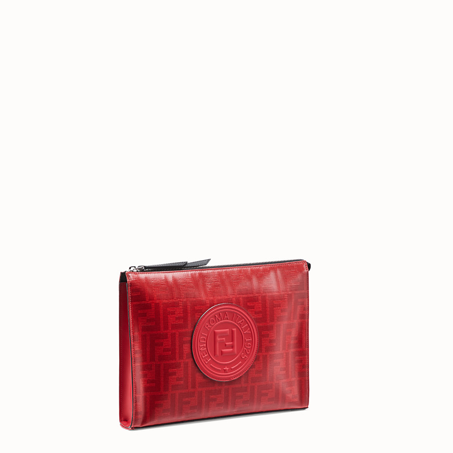 FENDI CLUTCH - Red fabric pochette - view 2 detail