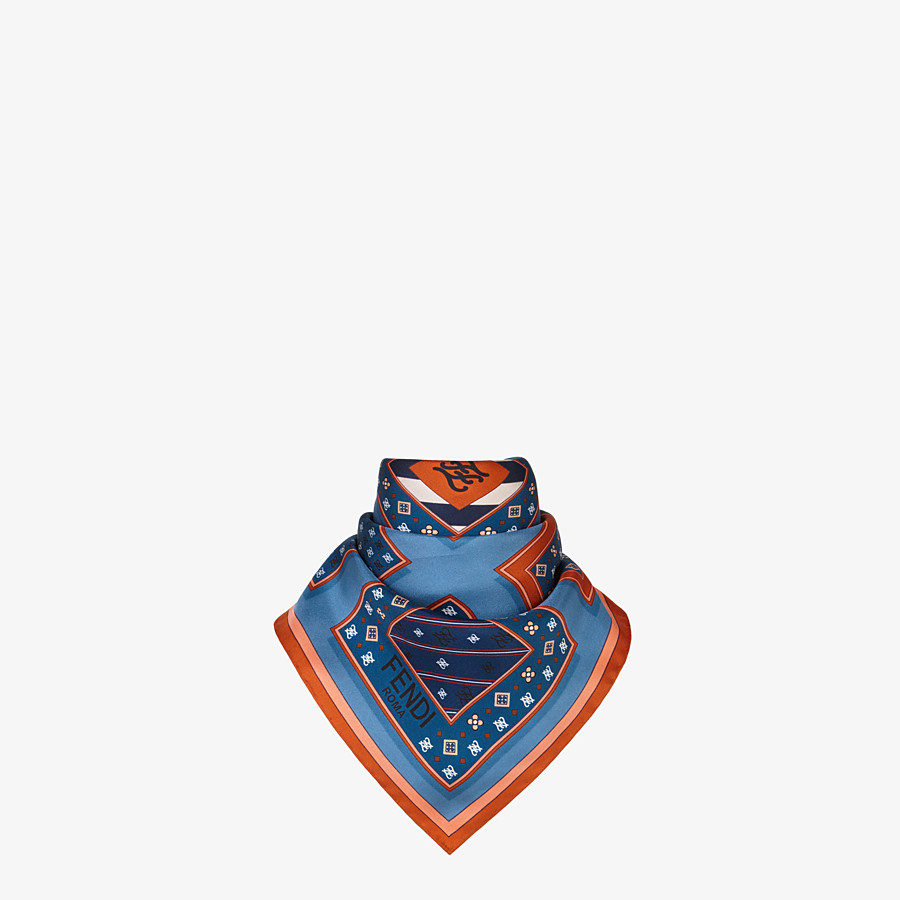 FENDI Karligraphy FOULARD - Multicolour silk foulard - view 2 detail