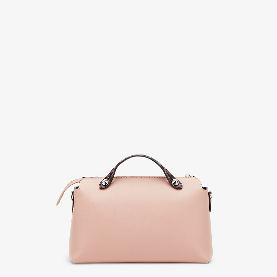FENDI BY THE WAY MEDIUM - Pink leather Boston bag - view 3 detail