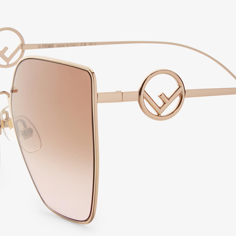 FENDI F IS FENDI - Gold-colored sunglasses - view 3 detail