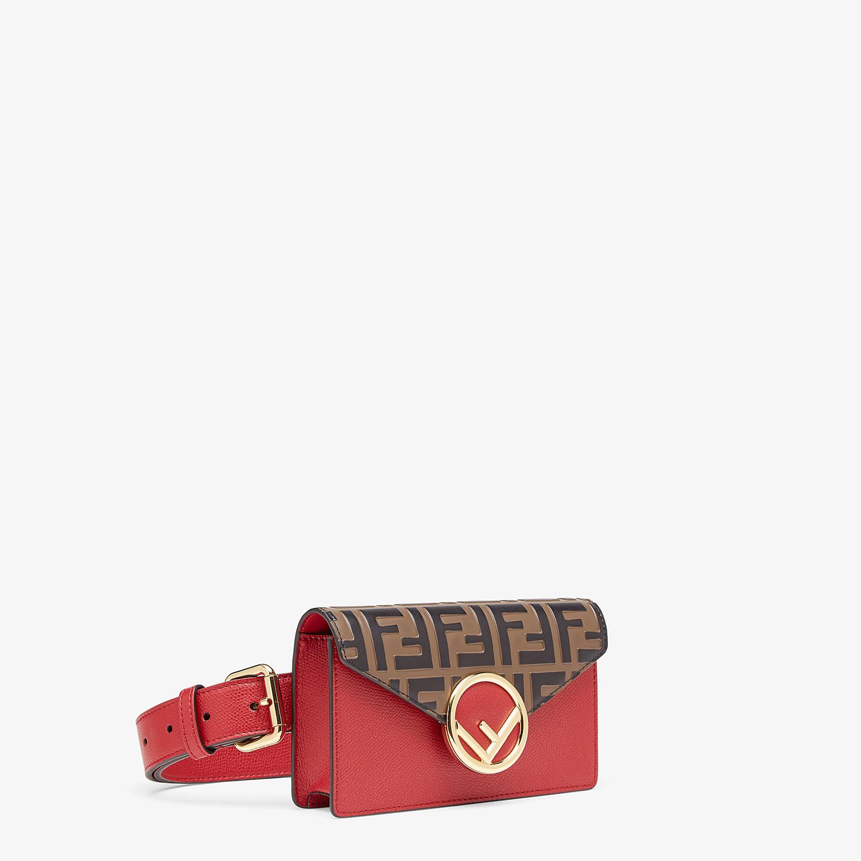FENDI BELT BAG - Red leather belt bag - view 3 detail